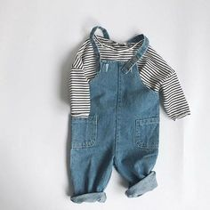 Stripes & overalls ✨ our favourite kids outfits - Kindermode Baby Girl Fashion, Toddler Fashion, Fashion Kids, Fashion Clothes, Stylish Clothes, Stylish Dresses, Babies Fashion, Fashion Outfits, School Fashion