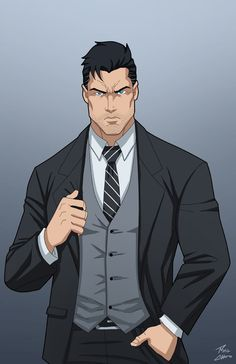 Bruce Wayne commission by phil-cho on DeviantArt