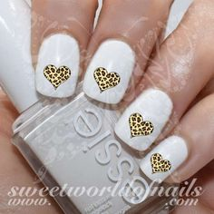 Animal Print Nail Art Leopard Heart Nail Water Decals Water Slides