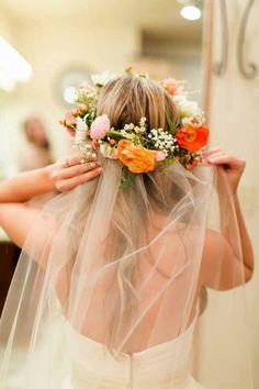 Bride's Fresh Floral Halo