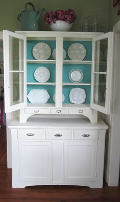 Step Back Hutch after being transformed with Annie Sloan paint