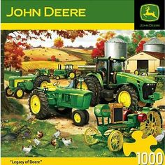 Amazon.com: 1000-Piece Legacy of John Deere Puzzle Art by Charles Frietag: Toys & Games