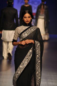 elegant black & white retro -- Manish Malhotra 2013