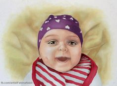 Baby - oil painting by Fatima Nabil https://www.facebook.com/artistFatimaNabil
