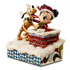 Carry on Disney traditions with Disney statues and figurines by Jim Shore. Shop for Mickey Mouse. Jack Skellington and Snow White figurines. Sleeping Beauty sculpture and more at Disney Store. Mickey Mouse Figurines, Disney Figurines, Mickey Minnie Mouse, Disney Mickey, Peanuts Christmas, Mickey Christmas, Christmas Time, Christmas Clay, Disney Toys