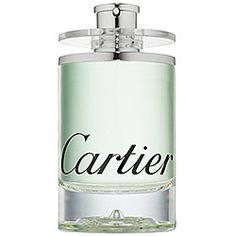 Cartier  Eau de Cartier Concentree	  Eau de Cartier Concentree is a fragrance of astonishing freshness with a green, leafy nature. The vibrant and inherently masculine combination of green leaves, nutmeg, amber, patchouli, and musk provide a sense of well-being and pleasure.