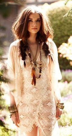 Beautiful bride-boho-hippie-gypsy