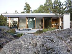Fritidshus argark Home Room Design, Dream Home Design, House Design, Beddinge, Bungalow, Box Houses, House Blueprints, House Layouts, Prefab