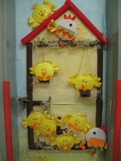 We always make chicks... This is the best way to display them!