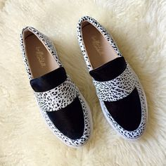 "Loeffler Randall Sneakers slip on A thick platform sole lends on-trend appeal to this plush, animal print sneaker. Material: Leather and Calf hair 1"" platform Made in Brazil No trades. Thank you. Loeffler Randall Shoes Sneakers"