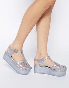 Zapatos de goma con plataforma plana HAPPY de ASOS