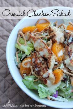 Oriental Chicken Salad - I use boneless skinless chicken breasts in place of the Tyson Grilled and Ready Chicken Strips to reduce sodium levels.