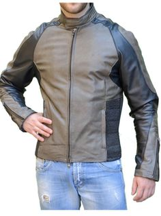 Giacca Moto in vera pelle mod. Battista - Pellein.com - Leather Jacket for Man