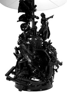 Black Action Figure Lamp