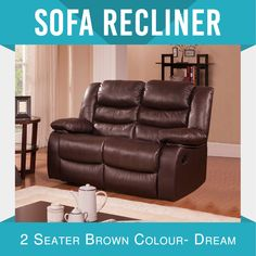 New Recliner Modern Bonded Leather Brown Smart Ultra Cushioned Stylish Dream Leather Reclining Sofa, Leather Recliner, Leather Sofa, Bonded Leather, Sofa Bed With Recliner, Modern Recliner, Recliner Slipcover, Modular Sofa Bed, Scandinavian Sofas