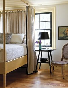 La Maison Boheme: Painting the Ikea Edland Bed New England Homes, Grey Room, Tiny House Plans, House And Home Magazine, Beautiful Bedrooms, Dream Bedroom, Decoration, Designing Women, Home