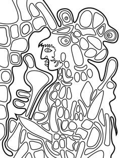 Temple Garden By Paul Klee Coloring Page From Paul Klee Category