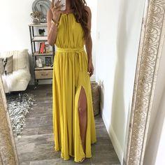 The Alexis Dress - Yellow