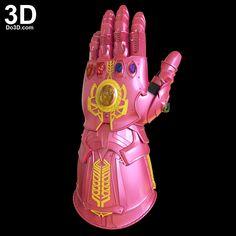 3D Printable Model: Thanos Gauntlet (Forearm & Glove) D23 / Avengers Infinity War Version | Print File Format: STL – Do3D.com