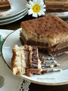 Tarta de galletas, Tres chocolates