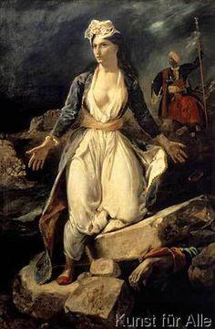Eugène Delacroix - Griechenlands Untergang auf den Trümmern von Missolunghi