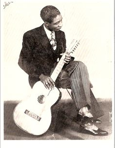 "Alonzo ""Lonnie"" Johnson (February 8, 1899 – June 16, 1970) was an American blues and jazz singer/guitarist and songwriter who pioneered the role of jazz guitar and is recognized as the first to play s"
