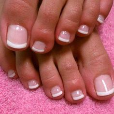 New Gel French Pedicure Toes Art Designs 50 Ideas French Toe Nails, French Manicure Toes, French Pedicure Designs, Nail Designs Spring, Toe Nail Designs, French Toes, French Tip Pedicure, Nails Design, Art Designs