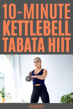 This quick home workout uses just a single kettlebell. It's our 10 minute kettlebell tabata HIIT that is perfect to do when you don't have much time to spare and want something quick and high energy to do. Kettlebell Workouts For Women, Weights Workout For Women, Great Ab Workouts, Tabata Workouts, Weight Training Workouts, Weight Loss Workout Plan, Hiit, Belly Fat Workout, High Intensity Interval Training