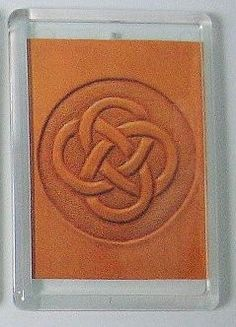 Celtic Knot Hand Tooled Leather Reproduction Print Refrigerator Magnet | CampbellStudio - Housewares on ArtFire