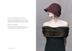 Lookbooks of the brand Céline Robert Chapeaux, hand mande women ceremony hats, bibi, capeline, turban, cloche, cap...