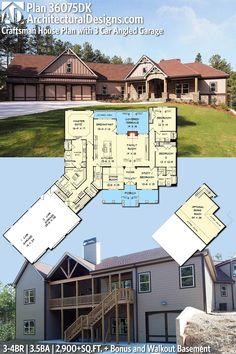 Architectural Designs European Cottage House Plan 36075DK 3 4 BR | 3.5 BA |  2,900