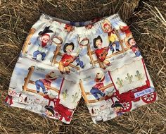 Image of Lil' Cowpokes Shorts Show Us, Trunks, Swimwear, Image, Fashion, Moda, Bathing Suits, Swimsuit, Fasion
