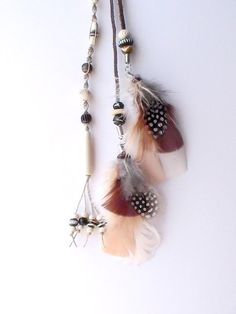 long feather hair clip