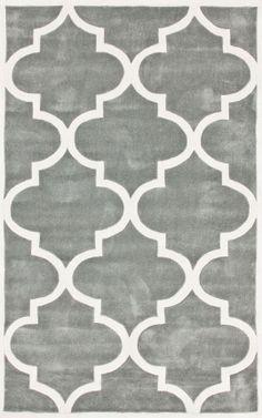 Rugs USA Keno Trellis Slate Rug, 100% Polyester, Hand Tufted, Contemporary, grey. home decor, interior design, DIY, pattern, summer.