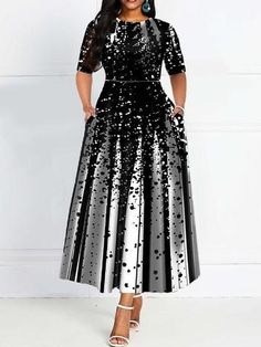 Cheap Price for Half Sleeve Dress Women 2019 Elegant Lady Party Dinner Midi Robe High Waist Bandage Print African Christmas Dress Vestiods Half Sleeve Dresses, Half Sleeves, Dresses With Sleeves, Cheap Dresses, Casual Dresses, Fashion Dresses, Modest Fashion, Mom Fashion, Fashion Women