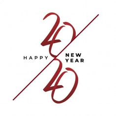 Modern Hand Drawn Lettering 2020 New Year Greeting Banner Design Vector Elegant Red Text On White Background PNG and Vector Hand Drawn Lettering, Brush Lettering, Ribbon Font, New Year Typography, New Years Cocktails, Blessing Words, Red Packet, New Years Decorations, New Year Greetings