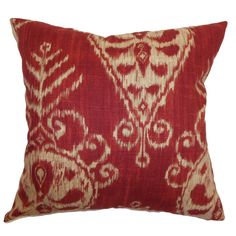 Hargeisa Ikat Cotton Throw Pillow