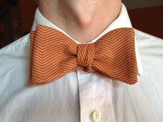 Handmade Bowtie  Burnt Orange by toddsties on Etsy