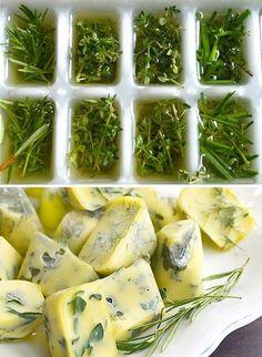7. Congelez des glaçons d'huile avecdes herbes pour toujours avoir des cubes d'épices sous la main. - Advertisement -