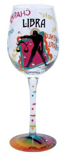 Lolita Love My Sign, Libra Wine Glass by Santa Barbara Design Studio Kitchen. $29.95. Hand washing is recommended. Glasses ship in lolita's signature gift box; a distinctive round box with a lid that cushions the glass for storage, as well. Lolita licensed hand painted wine glass with libra wine cooler recipe on the bottom of the stem. Each glass is carefully hand painted; the vibrant colors and embellishments are applied with meticulous detail. Holds 15-ounces; wine, wi...