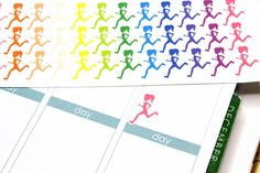 42 Running Stickers / Running Girl Silhouette! Perfect for Erin Condren Life Planner, Filofax, Plum Paper, planner, scrapbooking! #SQ00508 by KarolinasKrafts on Etsy https://www.etsy.com/listing/212180076/42-running-stickers-running-girl
