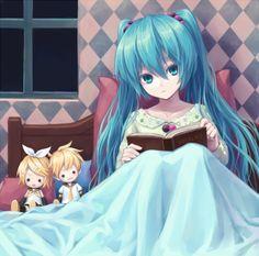 Miku, Rin & Len <3