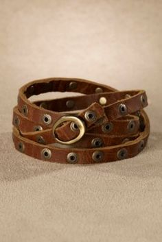 Rustic Wrap Bracelet - Belt Bracelet, Vintage Style Bracelet, Rug-chic Bracelet   Soft Surroundings
