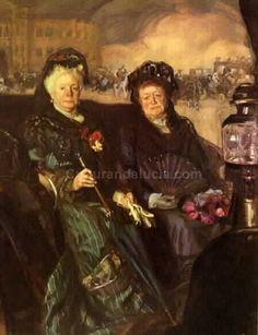 José María López Mezquita - Galería de pinturas. La infanta Isabel y la duquesa de Nájera