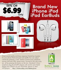 Newest Earphone Headset EARPODS with Remote & Mic iPhone 4S 5 Touch 5 iPad2 3 DON'T WORRY!★★★SHIPS SAME DAY/NEXT DAY FROM PHX, AZ!★★★