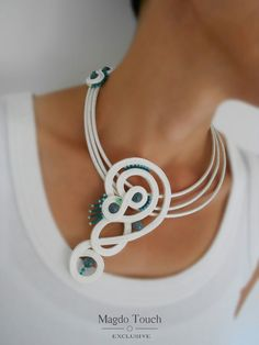 One of a kind soutache necklace. From collection 'Box of Chocolates'. #magdotouch #artistic #jewelry #soutache #necklace