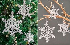 Hello friends, today I am sharing more a free pattern teaching step by step how to make Snowflake for Christmas decoration, that is, with this snowflakes you can decorate your tree, make garlands a… Crochet Snowflake Pattern, Crochet Snowflakes, Snowflake Ornaments, Crochet Patterns, Crochet Ideas, Doily Patterns, Crochet Designs, Crochet Projects, Knitting Patterns