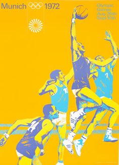 Aicher, Otl poster: Olympic Games 1972 - Basketball (large)