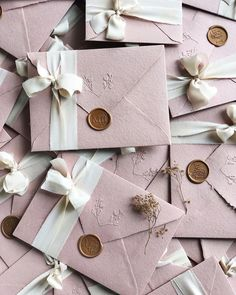 Dusty pink wedding invitations on handmade paper envelopes embossed with . - Dusty pink wedding invitations on handmade paper envelopes embossed silk ribbon and custom wax seal - Wedding Invitation Video, Handmade Wedding Invitations, Pink Invitations, Invitation Envelopes, Watercolor Wedding Invitations, Elegant Wedding Invitations, Wedding Stationery, Paper Envelopes, Handmade Envelopes