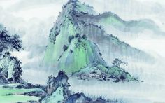 Chinese Ink Painting Landscape